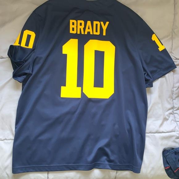 Men's Tom Brady college jersey